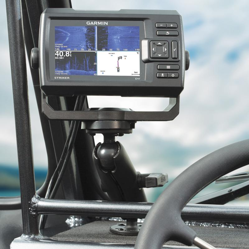 RAM Double Ball Mount with Garmin Fishfinder Hardware (RAM-101-G4) (sku 54466) - BuyBits Ltd UK