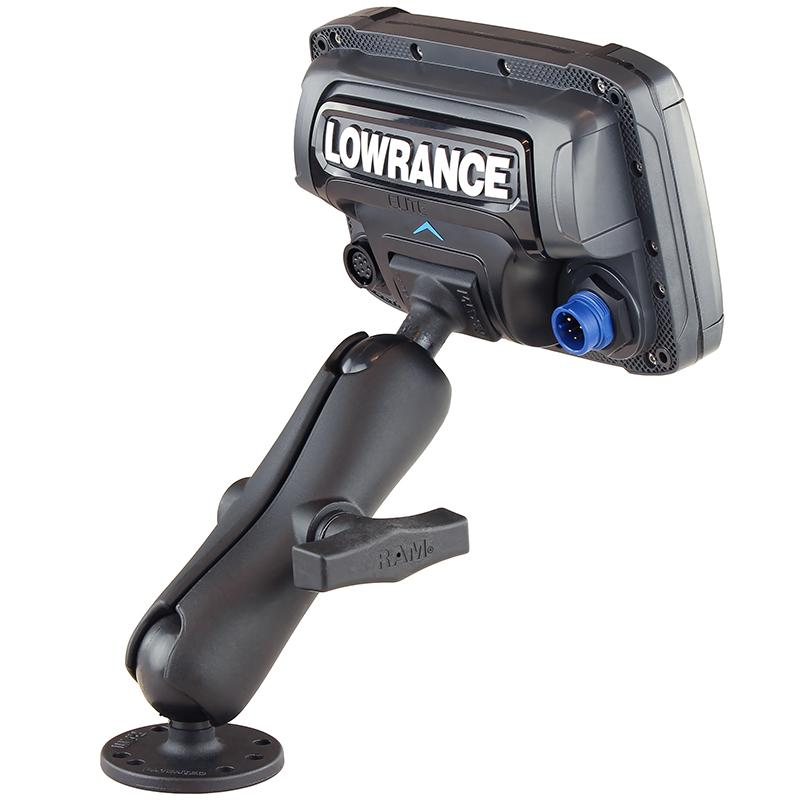 RAM Double Ball Mount for Lowrance Elite-5 & Elite-7 Ti (RAM-101-LO11) (sku 54467) - BuyBits Ltd UK