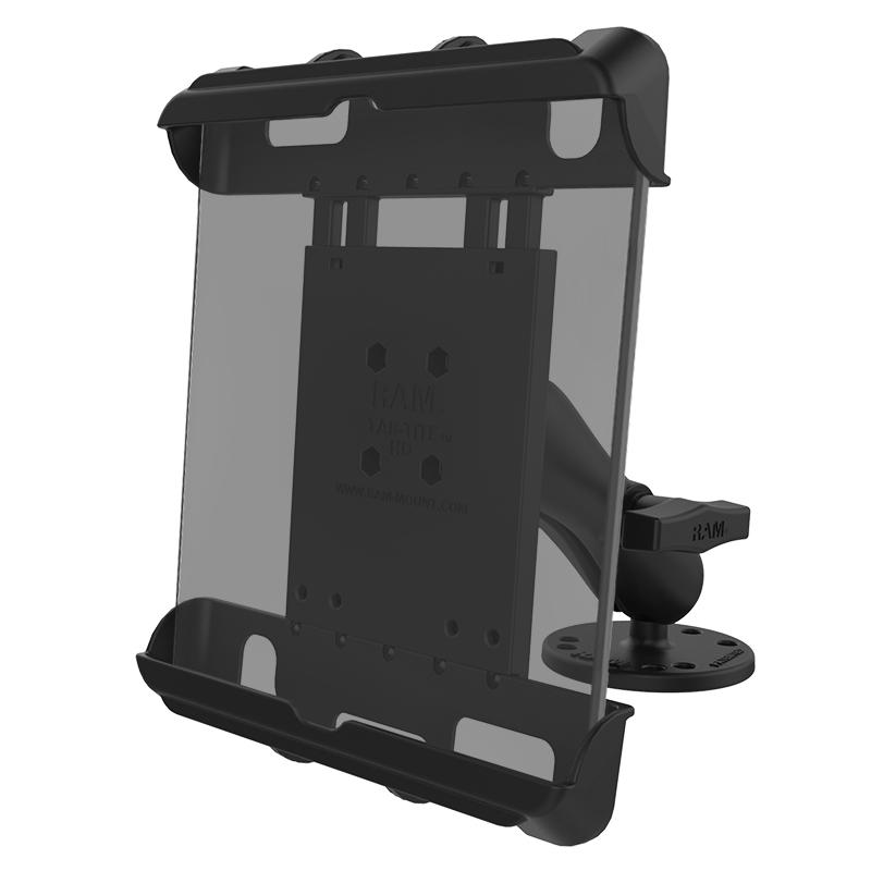 RAM Tab-Tite Large Tablet Holder with Flat Surface Mount (RAM-138-TAB17U) (sku 51004) - BuyBits Ltd UK