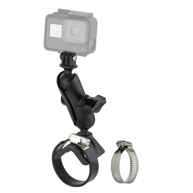 RAM Strap Clamp Mount with Universal Action Camera Adapter (RAM-B-108-GOP1U) (sku 51146) - BuyBits Ltd UK
