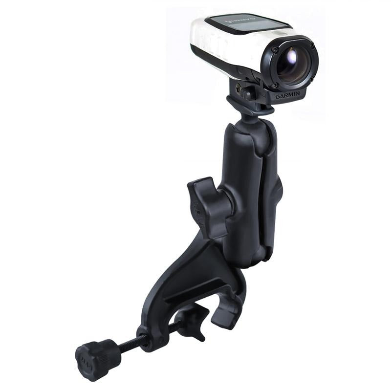 RAM Double Ball Yoke Clamp Mount with Garmin VIRB Camera Adapter (RAM-B-121-GA63U) (sku 51168) - BuyBits Ltd UK