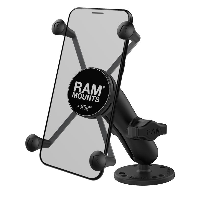 RAM X-Grip Large Phone Mount with Drill-Down Base (RAM-B-138-UN10) (sku 50911) - BuyBits Ltd UK