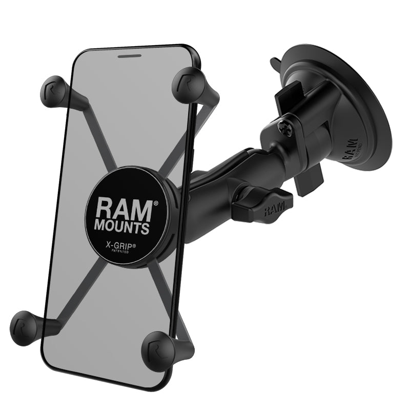 RAM X-Grip Large Phone Mount with RAM Twist-Lock Suction Cup Base (RAM-B-166-UN10U) (sku 35539)