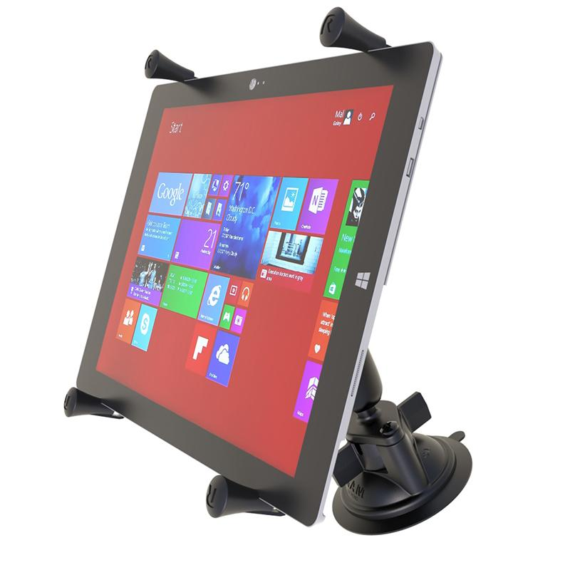 RAM X-Grip Large Tablet Mount with RAM Twist-Lock Suction Cup Base (RAM-B-166-UN11U) (sku 51070) - BuyBits Ltd UK