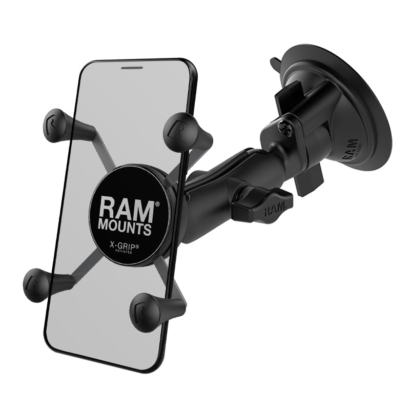 RAM-B-166-UN7 Universal X-Grip Phone Holder Twist Lock Suction Cup (sku 18977)
