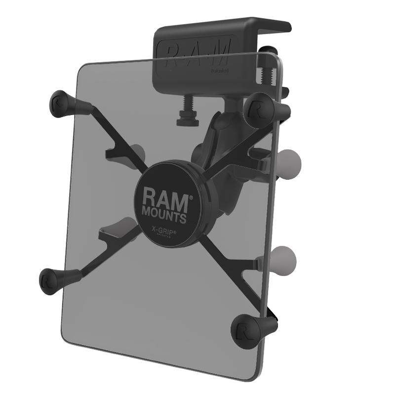 "RAM X-Grip Mount with Glare Shield Clamp Base for 7""-8"" Tablets (RAM-B-177-UN8) (sku 51110) - BuyBits Ltd UK"
