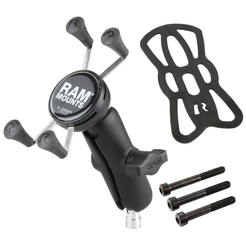 RAM X-Grip Phone Mount with Motorcycle Handlebar Clamp Base (RAM-B-367-UN7U) (sku 50953) - BuyBits Ltd UK