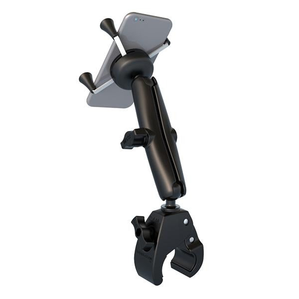 RAM X-Grip Phone Mount with RAM Tough-Claw Small Clamp Base (RAM-B-400-C-UN7U) (sku 50925) - BuyBits Ltd UK