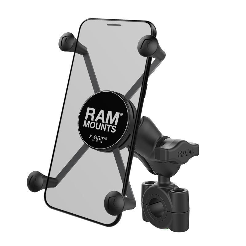 RAM X-Grip Large Phone Mount with RAM Torque Medium Rail Base (AM-B-408-75-1-A-UN10) (sku 50938) - BuyBits Ltd UK