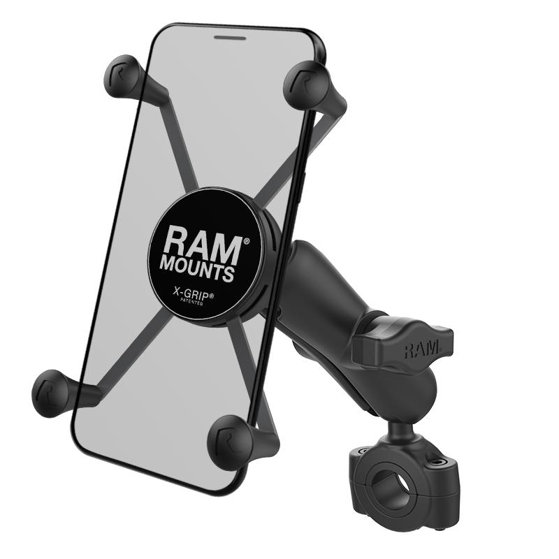 RAM X-Grip Large Phone Mount with RAM Torque Medium Rail Base (RAM-B-408-75-1-UN10U) (sku 50926) - BuyBits Ltd UK
