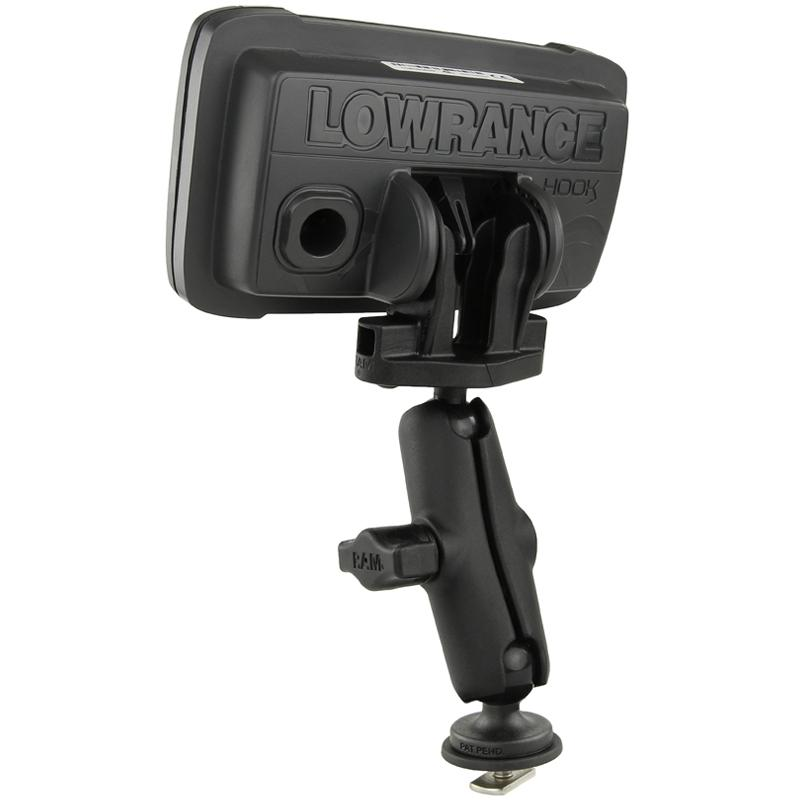 RAM Track Ball Double Ball Mount for Lowrance Hook2 & Reveal Series (RAM-B-LO12-354-TRA1) (sku 53761) - BuyBits Ltd UK