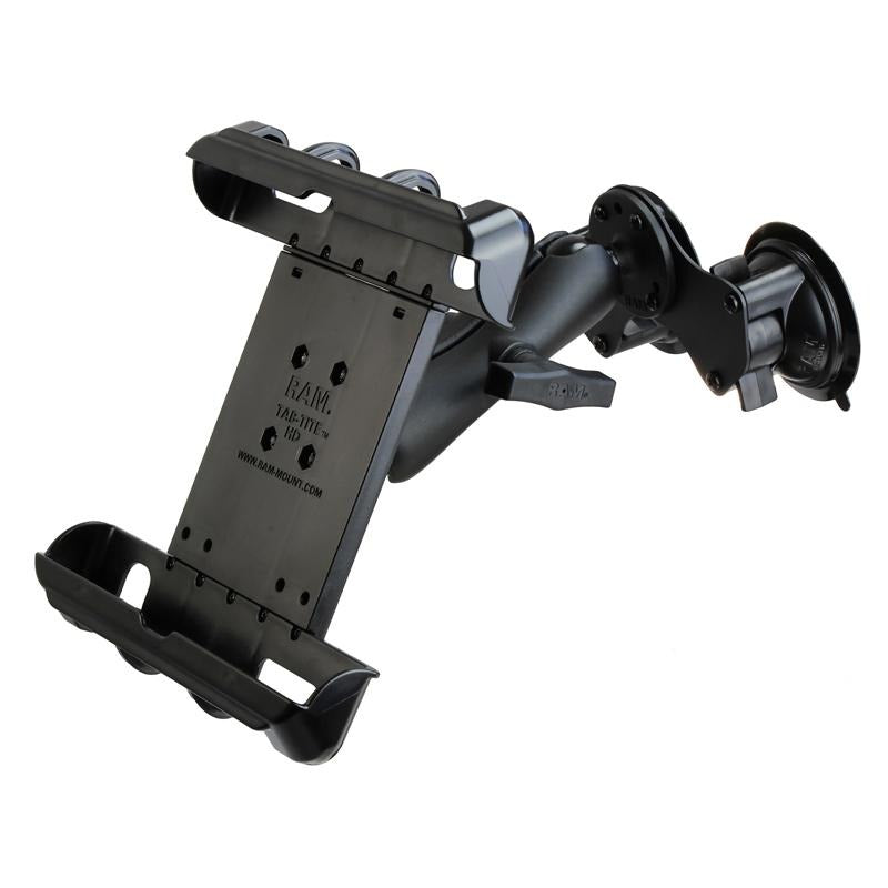 RAM Tab-Tite Tablet Mount with RAM Twist-Lock Double Suction Cup (RAM-HOL-TAB17-189BU) (sku 51115) - BuyBits Ltd UK