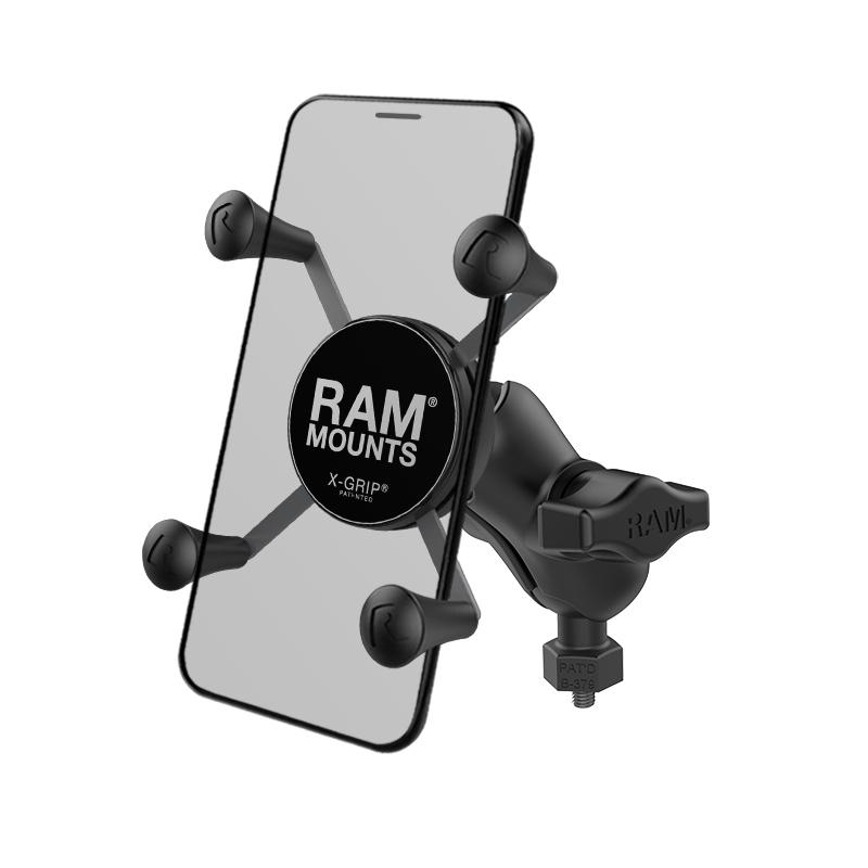 RAM X-Grip Phone Mount with RAM Tough-Ball M6-1 x 6mm Base (RAM-HOL-UN7B-A-379-M616U) (sku 50959) - BuyBits Ltd UK