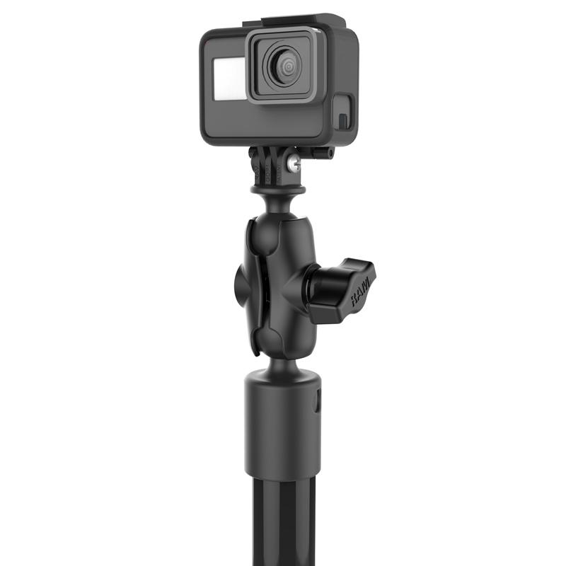 RAM Tough-Pole Camera Mount with Single Pipe & RAM Track-Node Base (RAP-411-18-A-GOP1-1) (sku 51145) - BuyBits Ltd UK