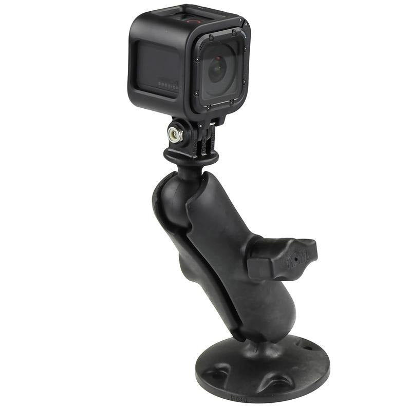 RAM Composite Drill-Down Mount with Universal Action Camera Adapter (RAP-B-138-GOP1) (sku 51159) - BuyBits Ltd UK