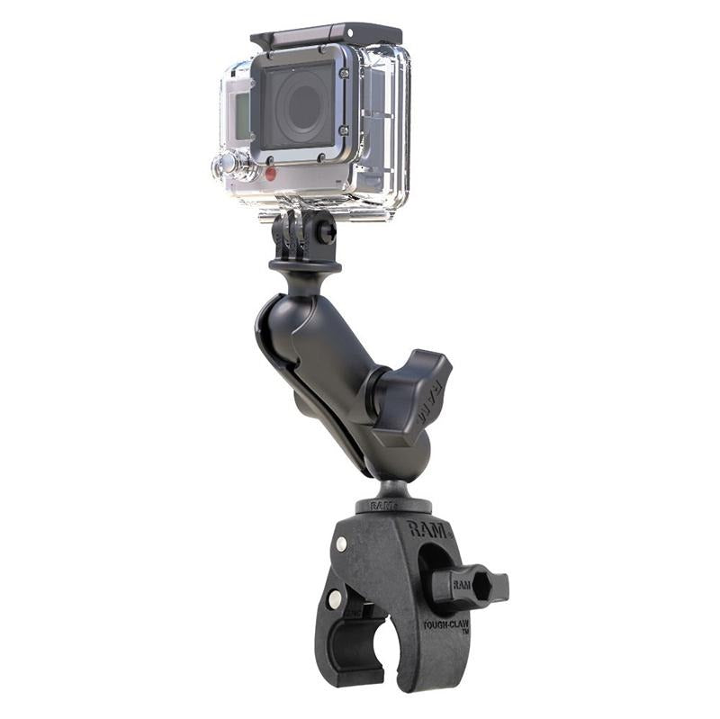 RAM Tough-Claw Double Ball Mount with Universal Action Camera Adapter (RAP-B-400-GOP1U) (sku 51127) - BuyBits Ltd UK
