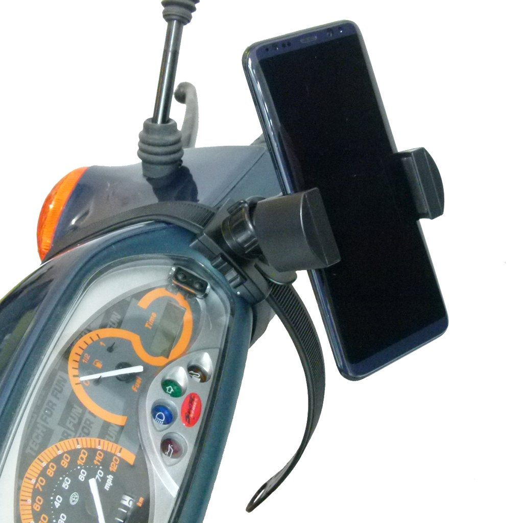 Scooter - Moped Collar Mount with XL Robust Holder for Samsung Galaxy S10 Lite (sku 50778) - BuyBits Ltd UK