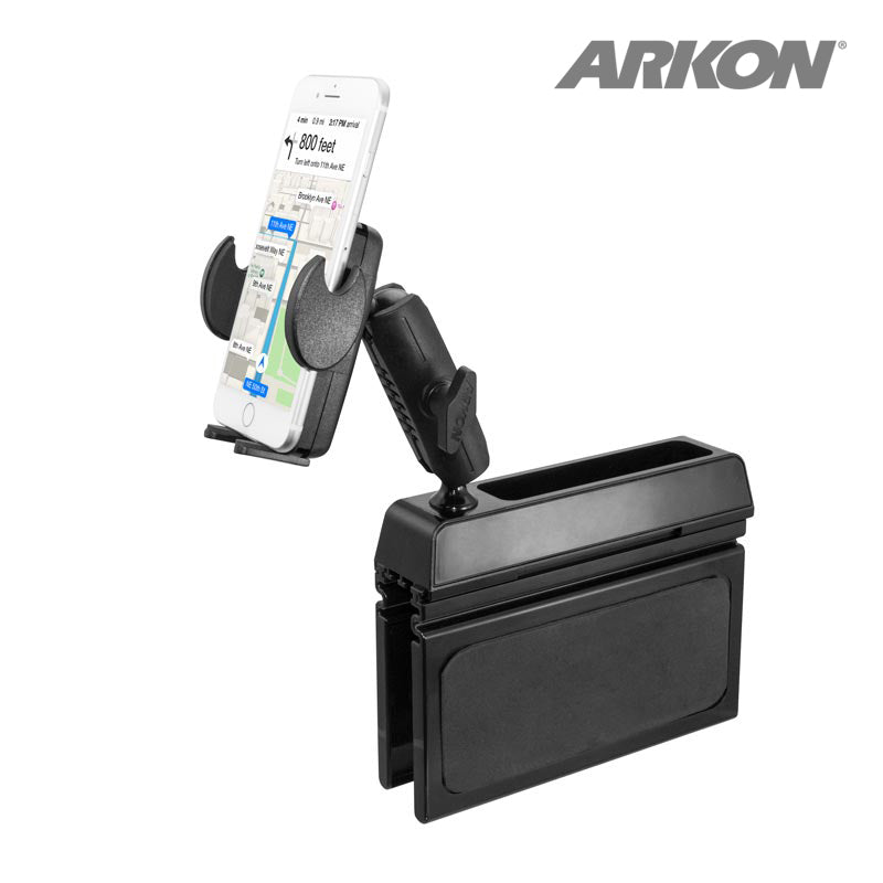 Arkon SM4SEATMT Car Console Wedge Phone Mount Holder fits Samsung Galaxy S10 5G (sku 44295)