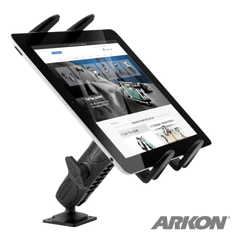 Arkon TABRMAMPS Heavy-Duty Drill-Base Tablet Mount for Apple iPad Air, iPad 4, 3, 2, Samsung Galaxy (sku 37244)