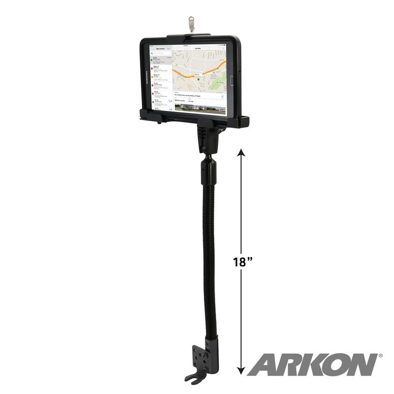 Arkon TAB4RM8825AL Robust Heavy-Duty Metal Locking Seat Rail or Floor Tablet Mount (sku 50214) - BuyBits Ltd UK