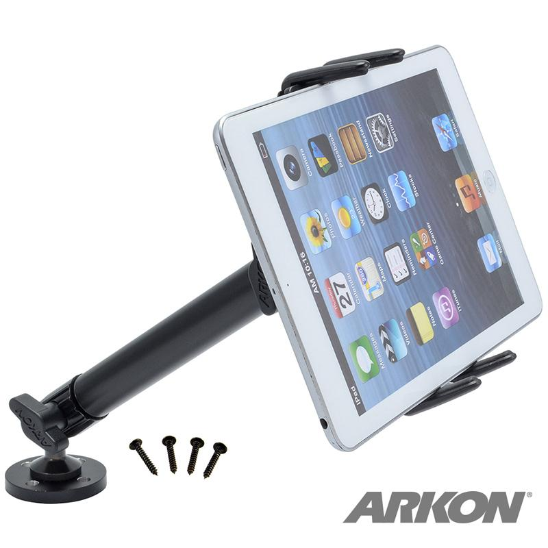 Arkon SM6HD005 Heavy-Duty Drill-Base Midsize Tablet Mount for Galaxy Tab 4, 3, Tab S, iPad mini (sku 50222) - BuyBits Ltd UK