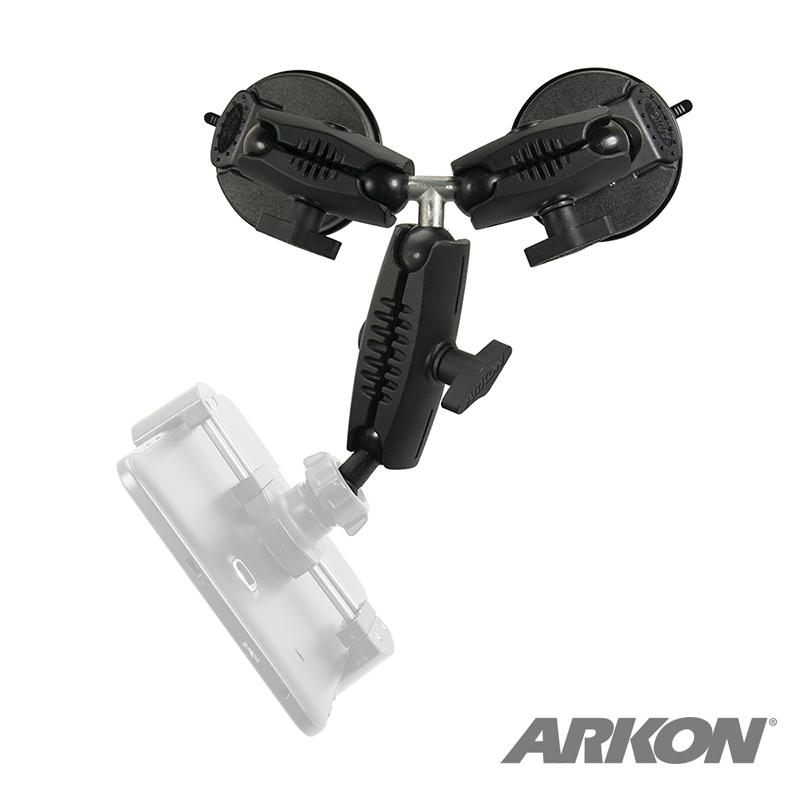 Arkon RM2X803250 Triple Robust Double Windshield Suction Mount – 17mm Ball Compatible (sku 50221) - BuyBits Ltd UK
