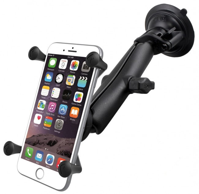 RAM-B-166-C-UN10 Long Twist & Lock Suction Mount & X-Grip® for Samsung Galaxy S10 (sku 44266)