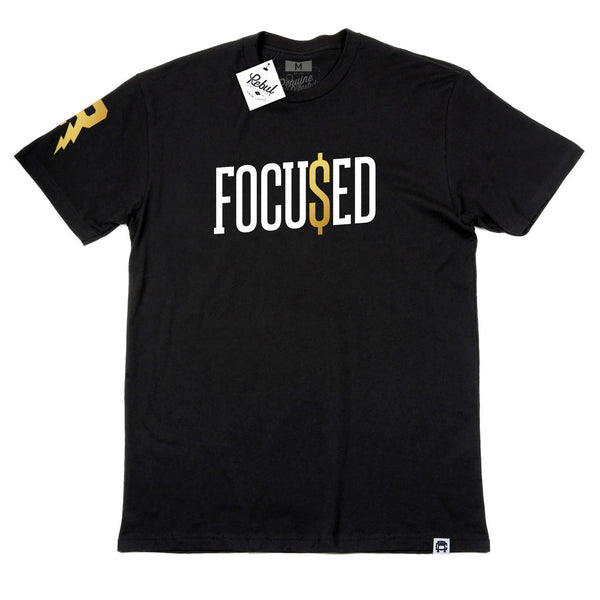 Rebul Collection Focu$ed Black T-Shirt