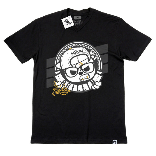 Rebul Collection Black T-Shirt Grillin