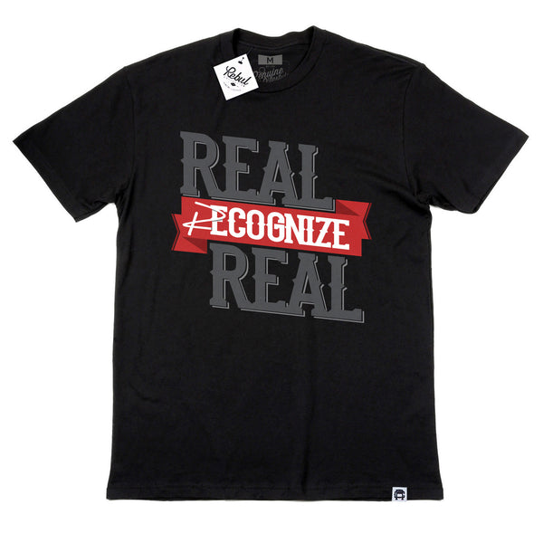 Rebul Collection Black T-Shirt Real Recognize Real