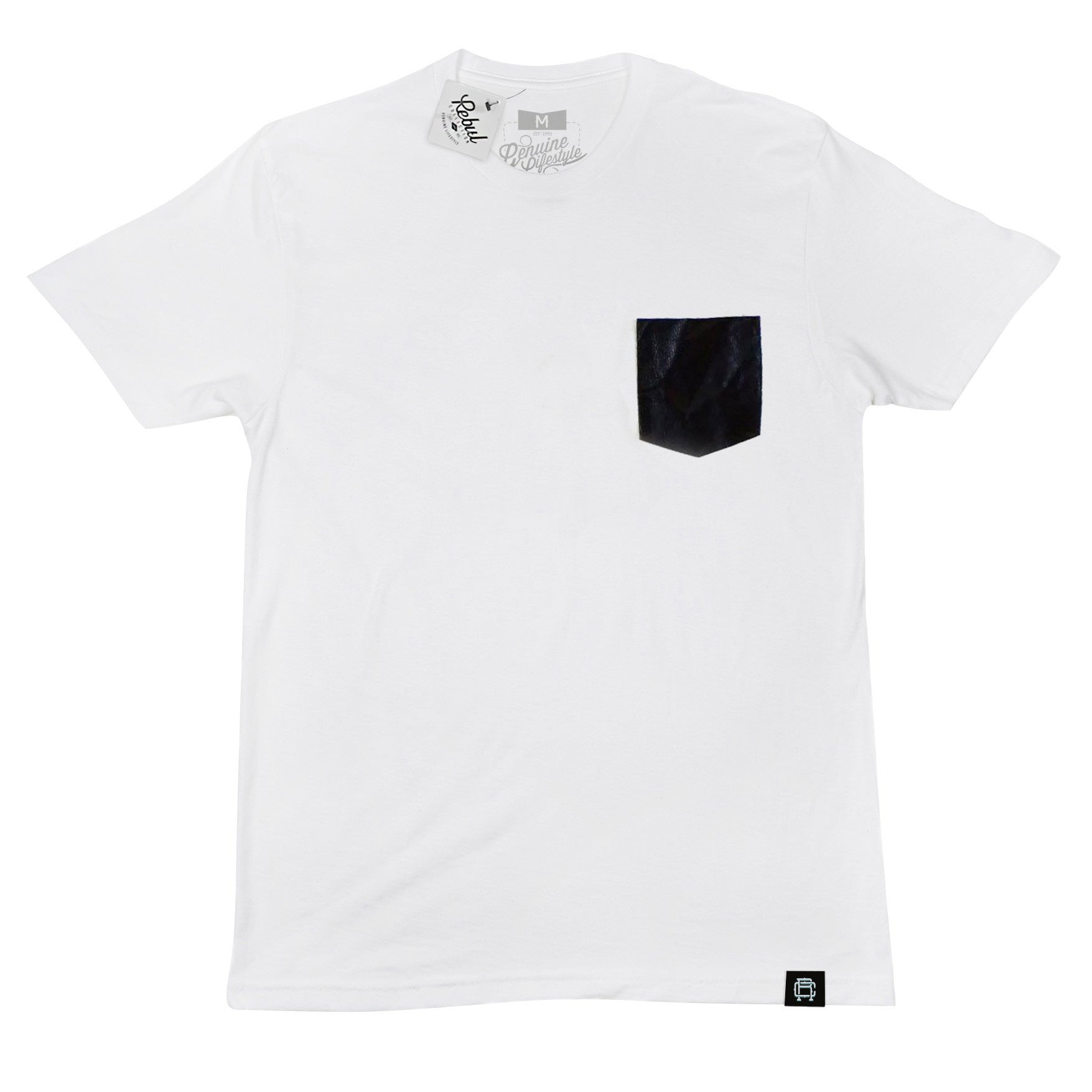 Men's pocket t-shirt Miami Faux Leather Pocket.