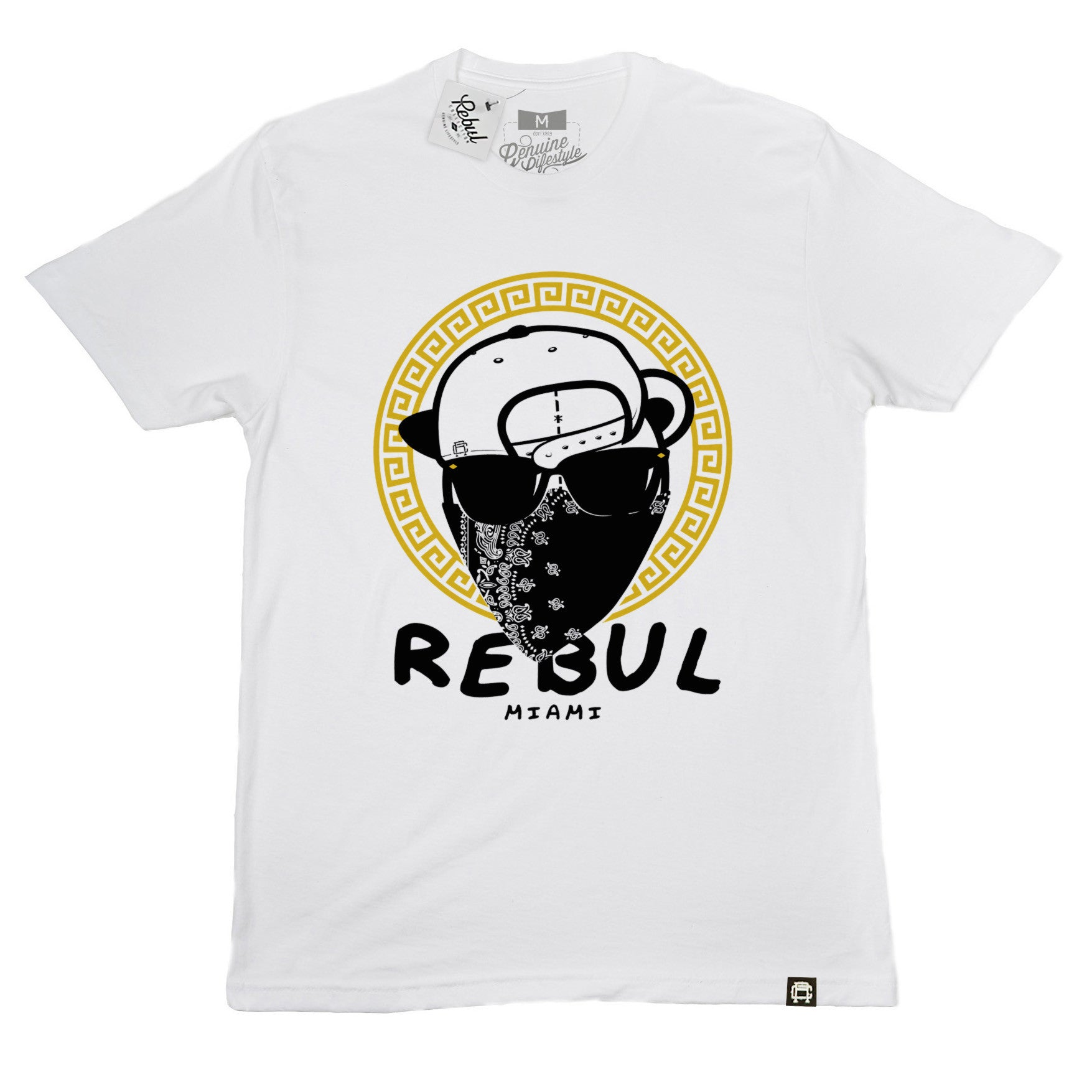 Rebul Collection White T-Shirt Versace Heist