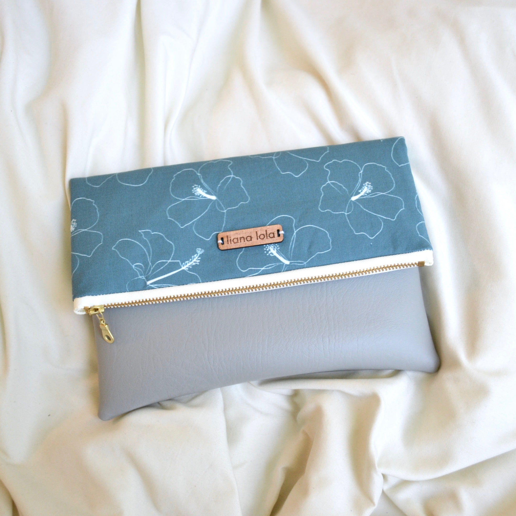 Forest Hibiscus Foldover Clutch