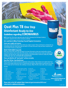 Quat Plus TB One Step Ready-to-Use Disinfectant usage instructions