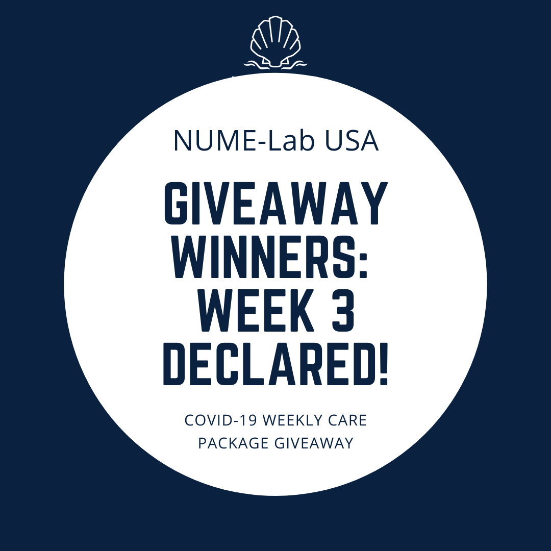 Week 3 Winners Of COVID-19 Care Package Giveaway from NUME-Lab USA!