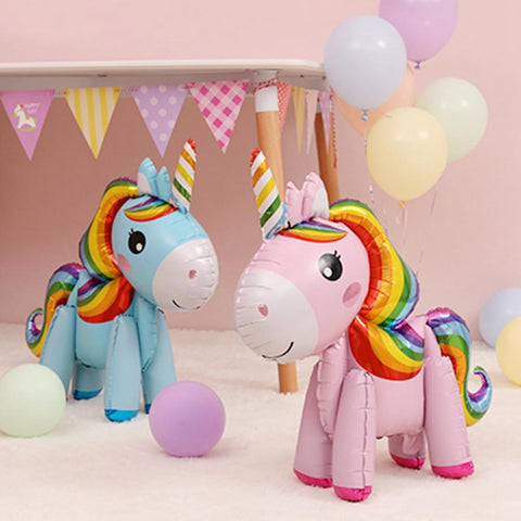 Standing Foil Unicorns - The Balloon Diaries