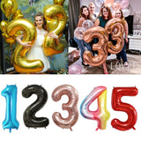 "40"" Foil Numbers - The Balloon Diaries"