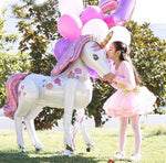 4ft. Life Size Foil Unicorn - The Balloon Diaries