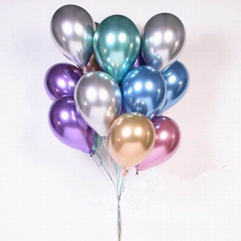 Chrome Latex Balloons - 30 or 50 Pack