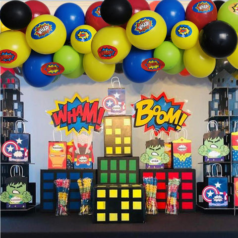 100pc Superhero Balloon Arch Kit - The Balloon Diaries