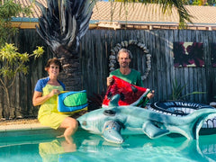 PLOYS owners and creators of bags and purses from recycled pool inflatables