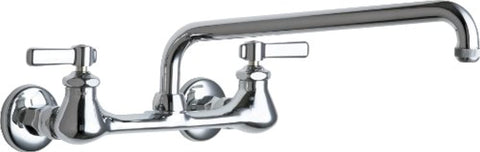 Chicago Faucets GIDDS-283719 Lead-Free Hot and Cold Water Sink Faucet with 8-Inch Fixed Centers and 12-Inch L-Type Swing Spout