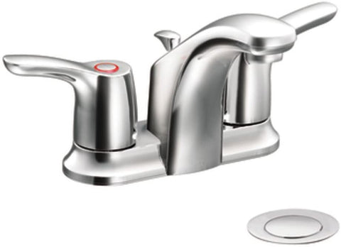 Cleveland Faucets CA42211 Baystone Centerset Bathroom Sink with 50/50 Pop-Up Drain, Chrome