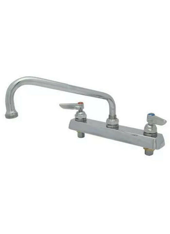 T&S Brass - B-1121 - Heavy Duty 8 in Deck Mount Faucet w/ 8 in Spout