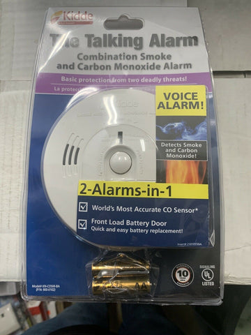 Kidde Battery Operated Talking Combo Smoke & Carbon Monoxide Alarm KN-COSM-BA