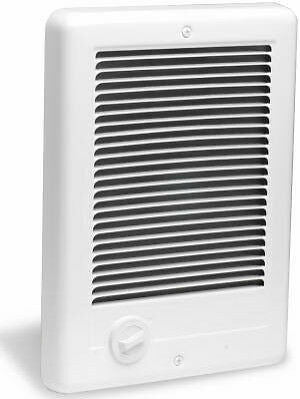 Electric Heater 1,000-Watt 120-Volt Fan-Forced In-Wall Dial Controls in White