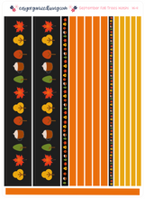 Load image into Gallery viewer, September Fall Trees Monthly Decoration Starter Kit