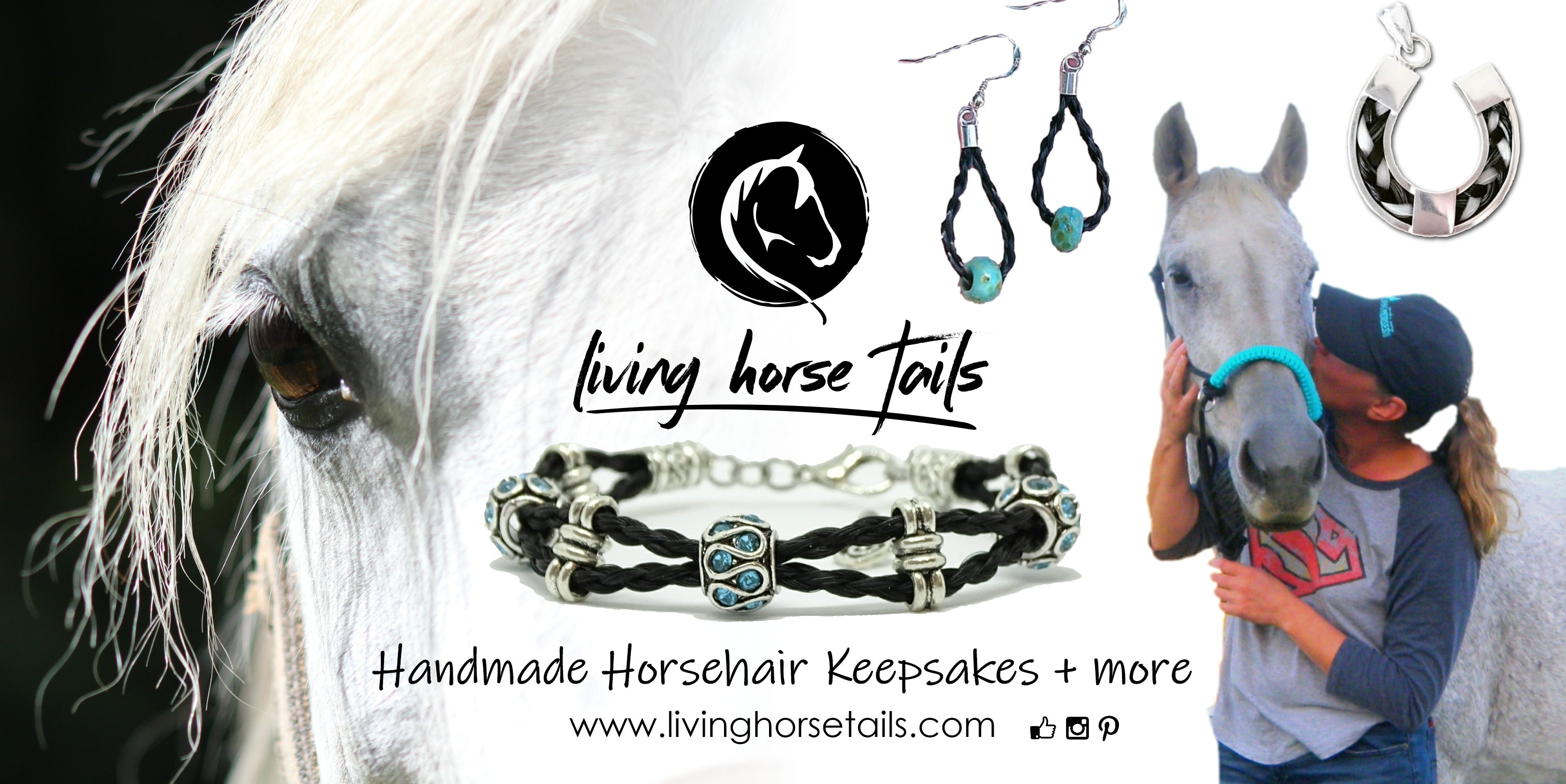 Living horse Tails - Handmade Horsehair Jewellery, keepsakes, gifts. Custom jewelry made with horse tail hair