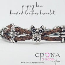 Load image into Gallery viewer, Puppy Love Leather Beaded Bracelet