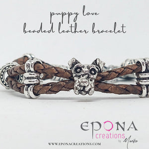 Puppy Love Leather Beaded Bracelet